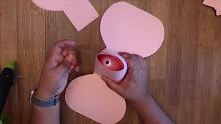 Ellen Paper Rose Tutorial   FREE Rose Template   DIY Paper Flower   Paper Rose