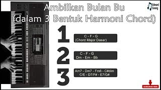 Ambilkan Bulan Bu (Reharmoni Akor) Yamaha PSR770 Style Manual