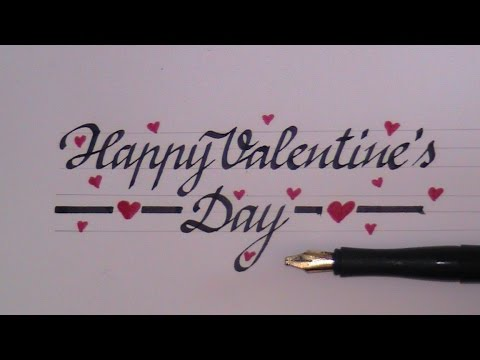 How To Write In Cursive Fancy Letters Happy Valentines Day Youtube