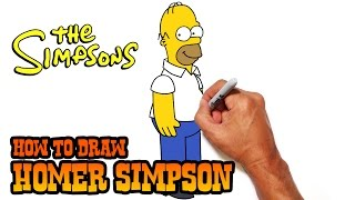 How to Draw Homer Simpson | The Simpsons