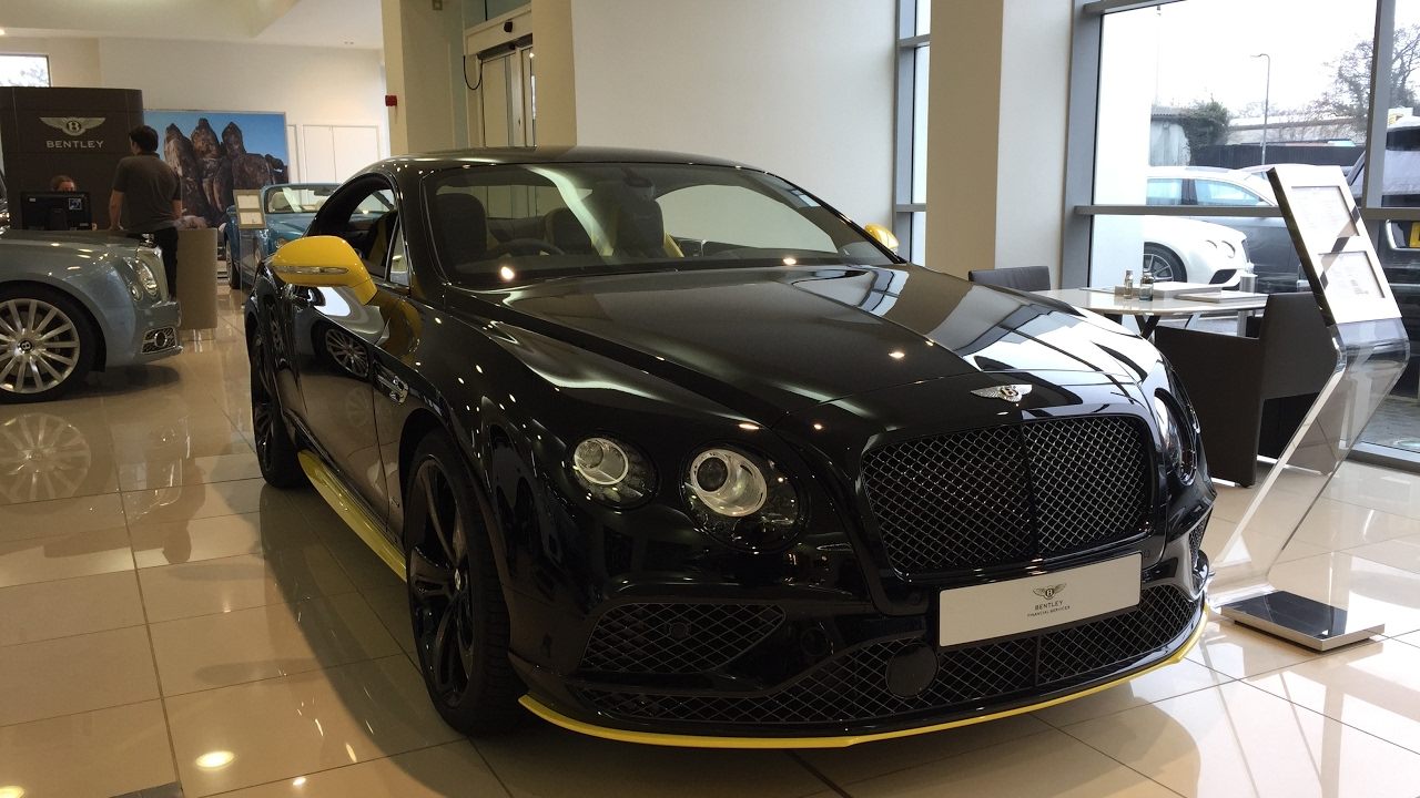2017 Bentley Continental Gt Speed Black Edition Exterior And