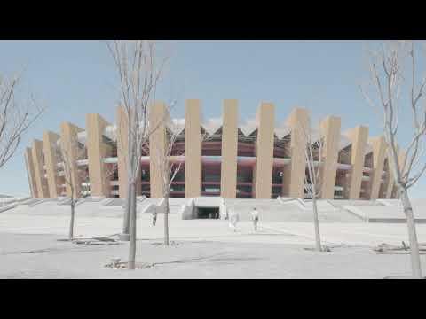 Ordos Kangbashi Ghost City: Abandoned Olympic Stadium
