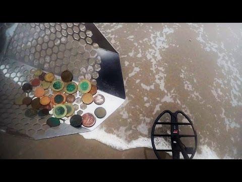 🔔 Metal detecting CTX 3030 super deep gold tip. Beach detecting México.