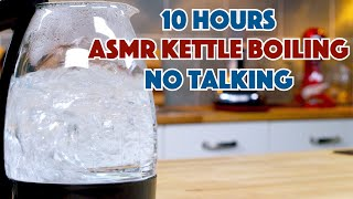 10 Hours Of Water Boiling In A Kettle - Fades To Black Screen