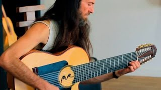 Estas Tonne plays his new 10 string guitar for the first time