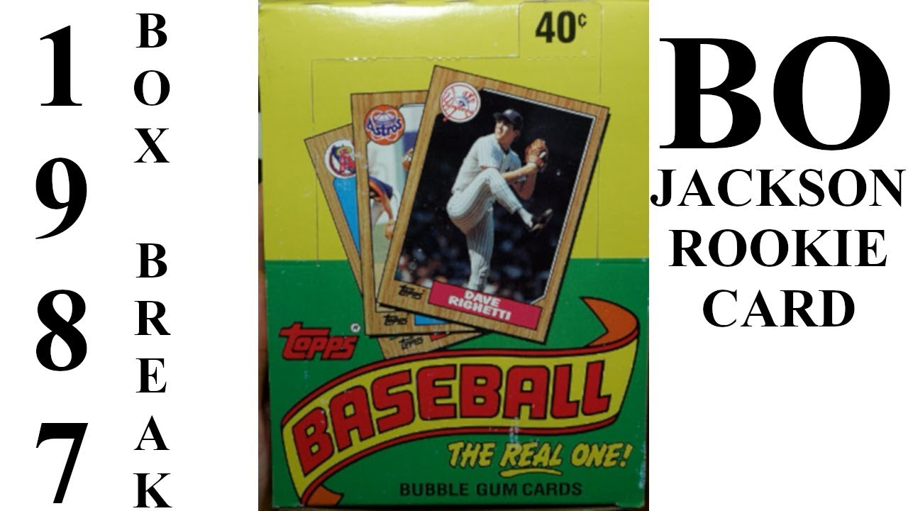 1987 Topps Box Break Bo Jackson