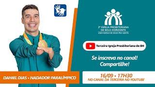 Convite Live com o nadador Daniel Dias