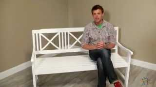 Matera 5 Ft. Painted Bench - White - Product Review Video