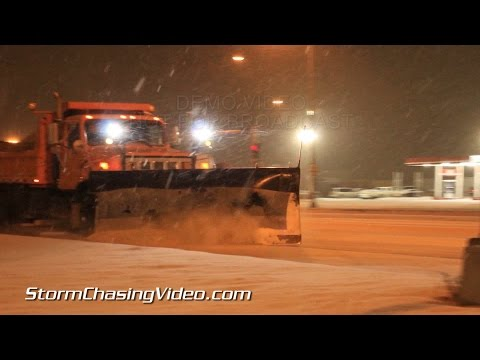 1/2/2015 Grand Forks North Dakota Overnight Heavy Snow  B-Roll