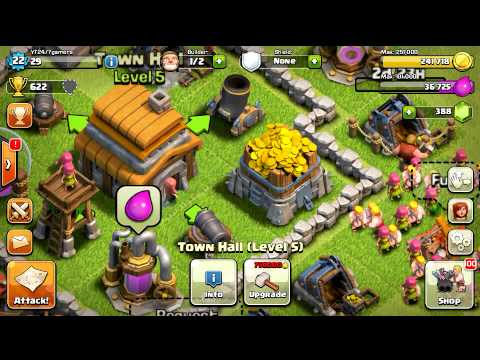 Clash Of Clans Upgrading Level 9 Gold Mine