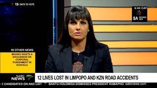 12 lives lost in Limpopo and KZN road accidents