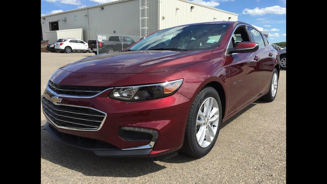 2016 Chevrolet Malibu Red New Car Sedan Unit 16n163