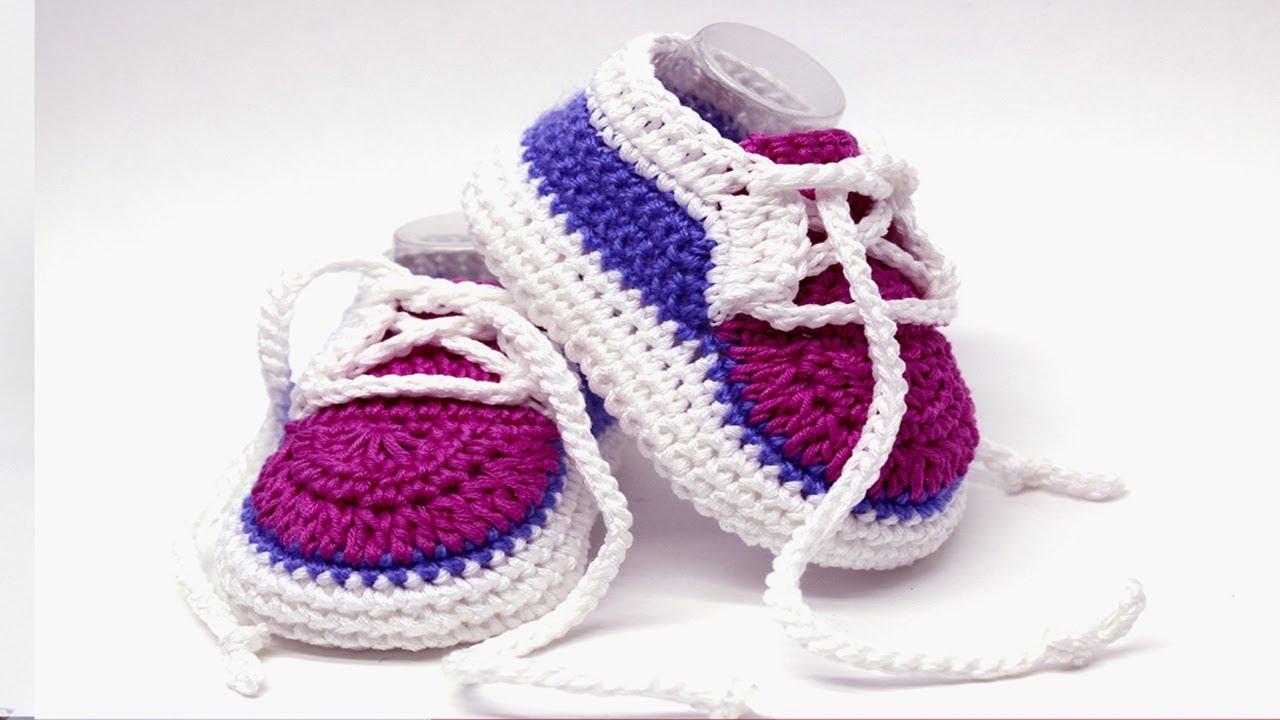 DIY crochet baby converse