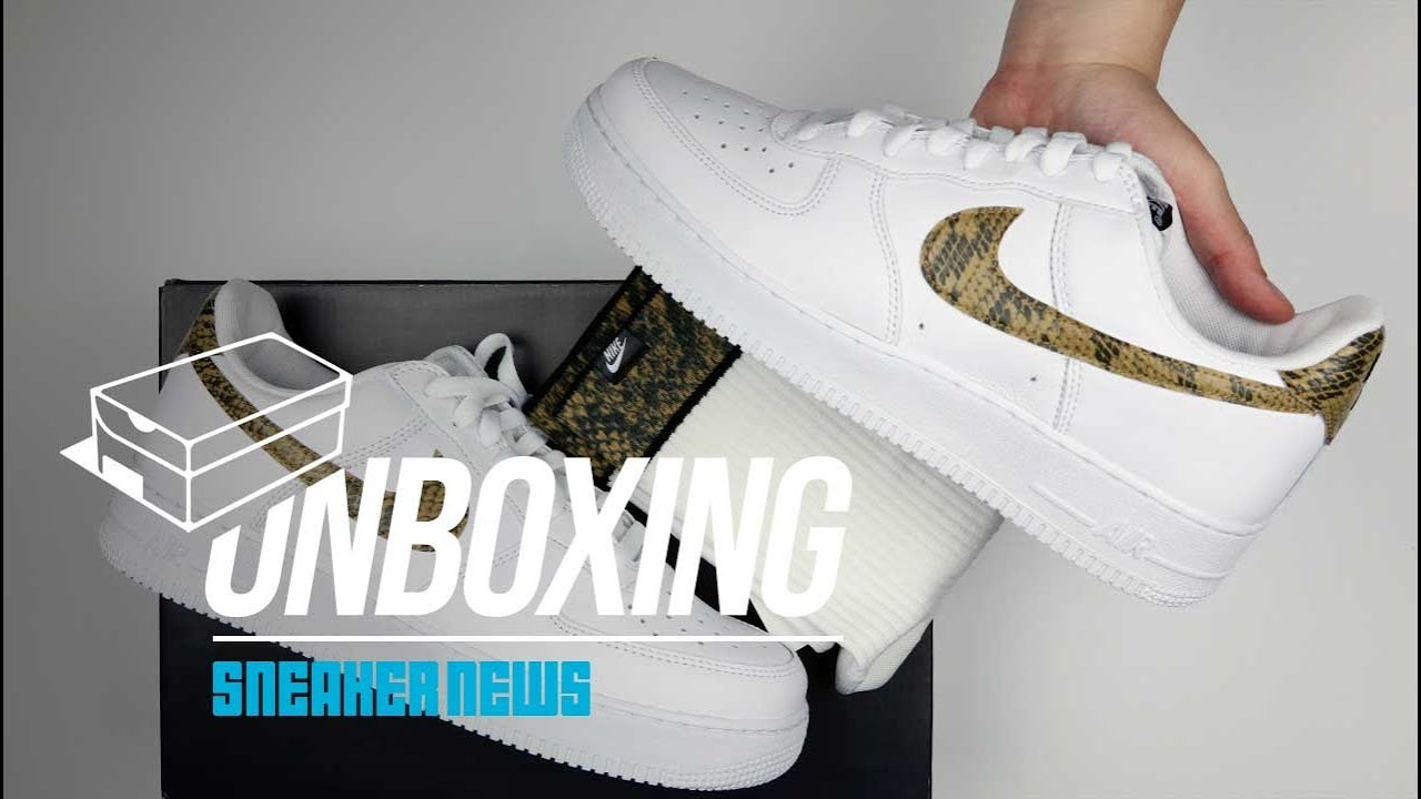Air Force 1 Python Snake Unboxing +