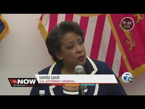 U.S. Attorney General Loretta Lynch speaks at Justice Forum in Detroit