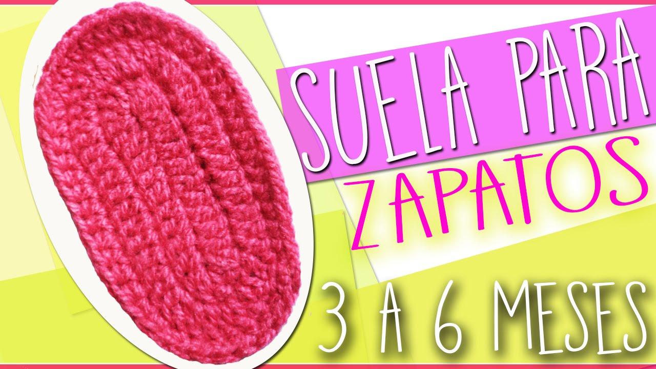 Suela Para Zapatos - Tejidos a Crochet Para Bebe de 3 a 6 Meses ...