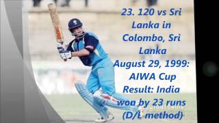 List of Sachin's ODI centuries
