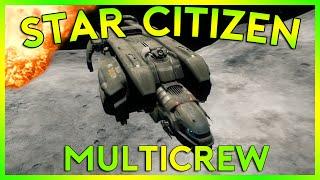 Star Citizen Alpha 2.4.1   MULTI CREW STARFARER LANDING   Part 154 (Star Citizen 2016 PC Gameplay)