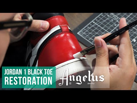 How to Repair Scuffs and Scratches | Jordan 1 Black Toe Restoration | Angelus Paint