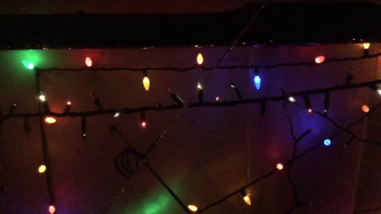 chasingflash christmas lights in super slow motion