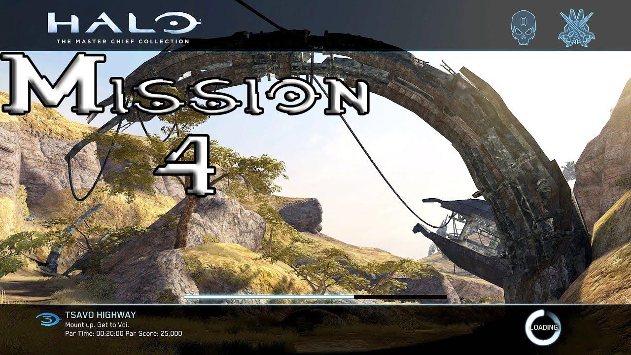 Halo 3 - Tsavo Highway - Mission 4 Walkthrough (1080p60fps) Xbox One MCC
