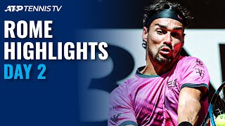 Fognini Battles Nishikori; Sinner, Musetti & Evans Begin Campaigns | Rome 2021 Day 2 Highlights