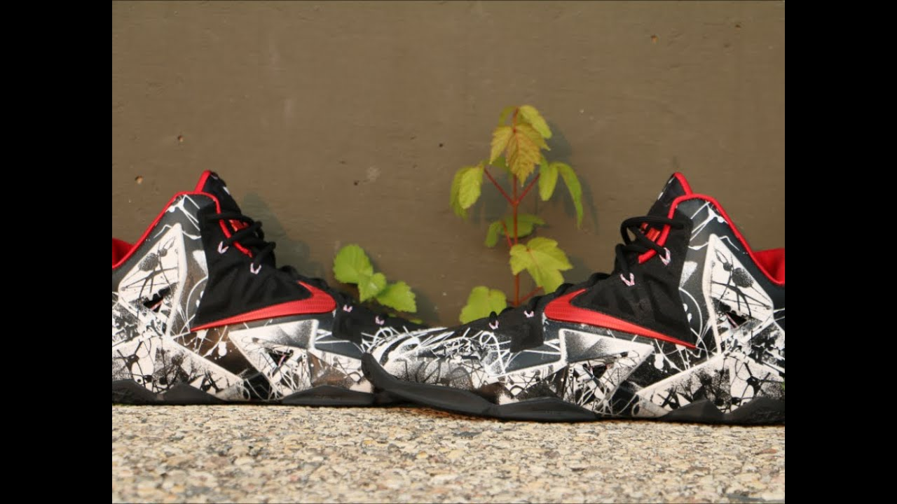 f19b712901f Nike LeBron 11 Graffiti - Detailed Review - YouTube
