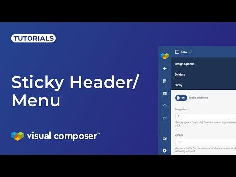 How to create sticky header? - Visual Composer Website Builder