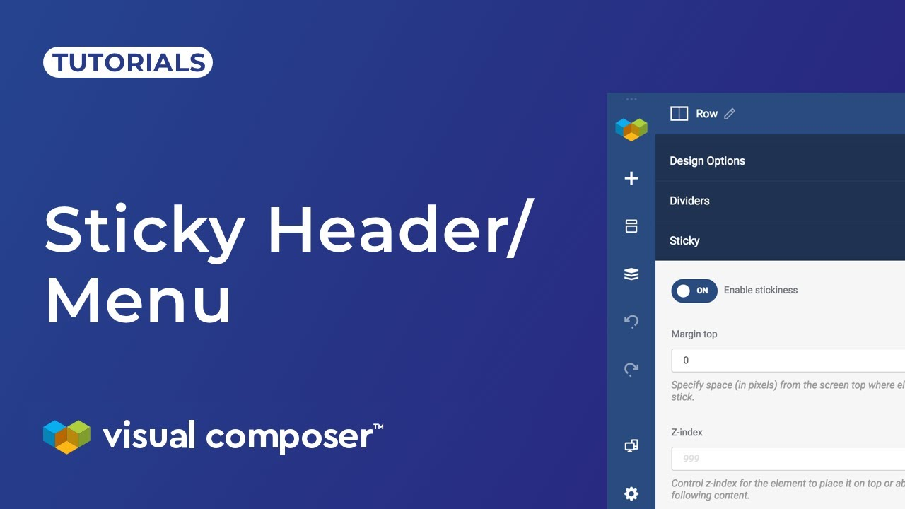 How to create sticky header? - Visual Composer Website Builder
