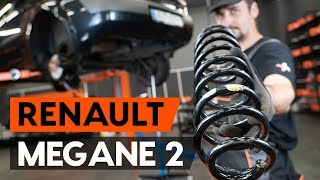 How to replace Suspension springs on RENAULT MEGANE II Saloon (LM0/1_) - video tutorial