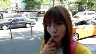 霸比凱莉。韓國首爾行。新沙洞林蔭道2012/09/23