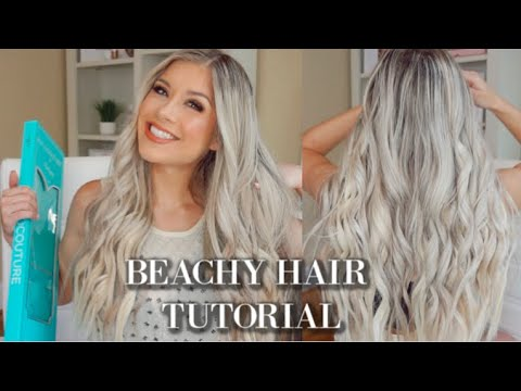 ALL ABOUT MY HALO COUTURE EXTENSIONS + BEACHY WAVES HAIR TUTORIAL