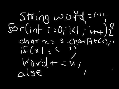 ICSE Java Programming using blueJ : Extracting words from S