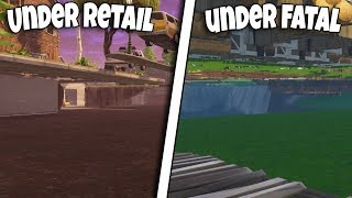 *2 NEW* UNDER THE MAP ATK UNDER RETAIL ROW AND FATAL FIELDS AFTER PATCH FORTNITE BR GLITCH