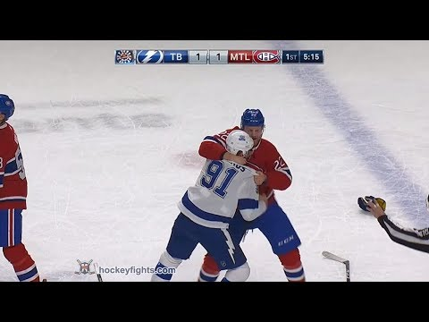 Steven Stamkos vs Karl Alzner Feb 24, 2018
