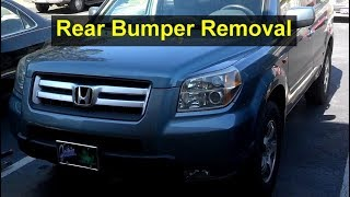 How to remove the rear bumper from a Honda Pilot - VOTD