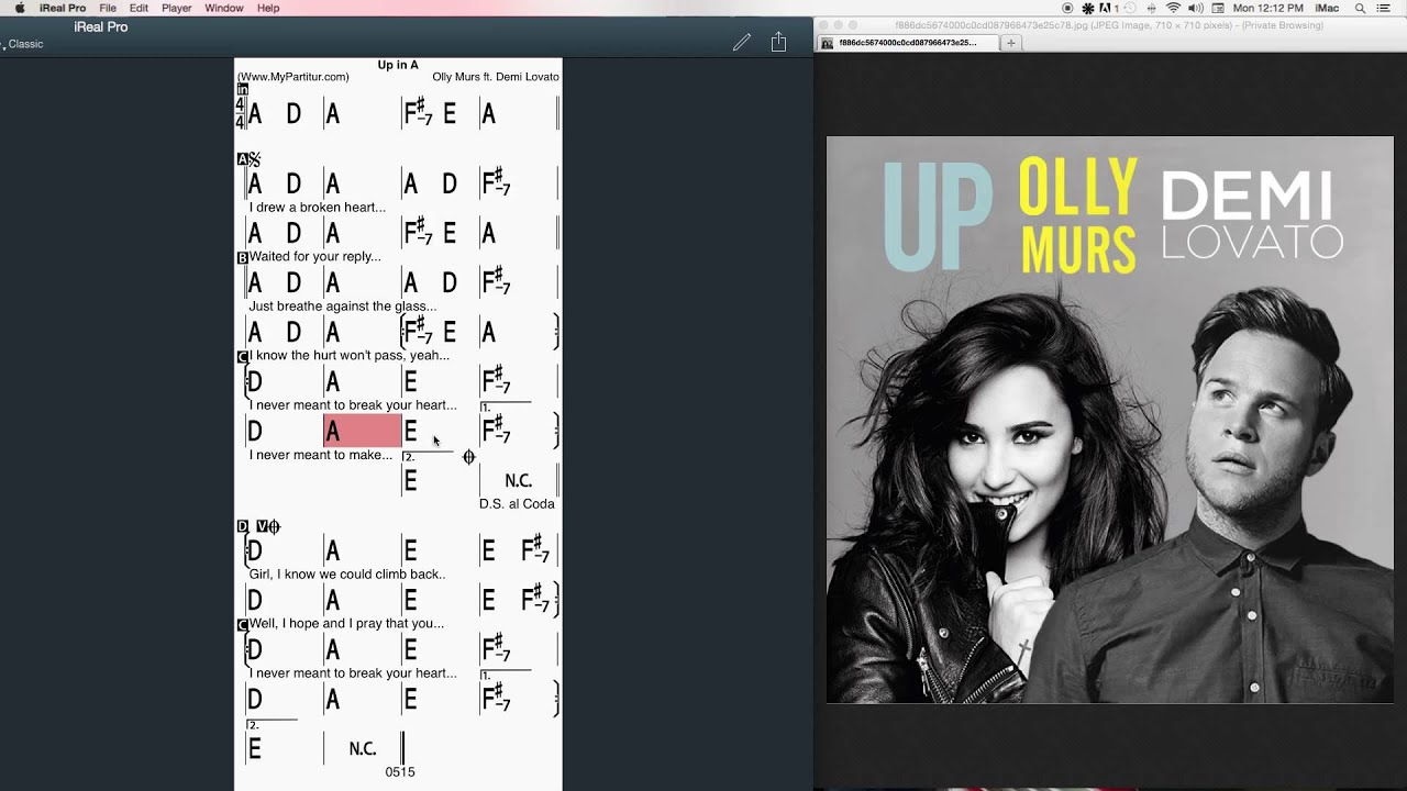 Up Chords At Mypartitur Demi Lovato And Olly Murs