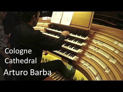 Arturo Barba live at Cologne Cathedral organ. Liszt: Prelude & Fugue on B-A-C-H