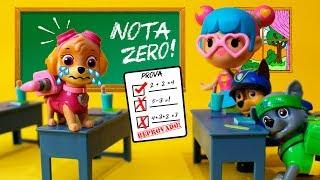 Skye da Patrulha Canina Cola NA ESCOLA e toma zero! - Em Portugues Brasil Completo