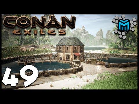 FISHING VILLAGE EP49 | Conan Exiles Multiplayer | Conan Devolved Season 3