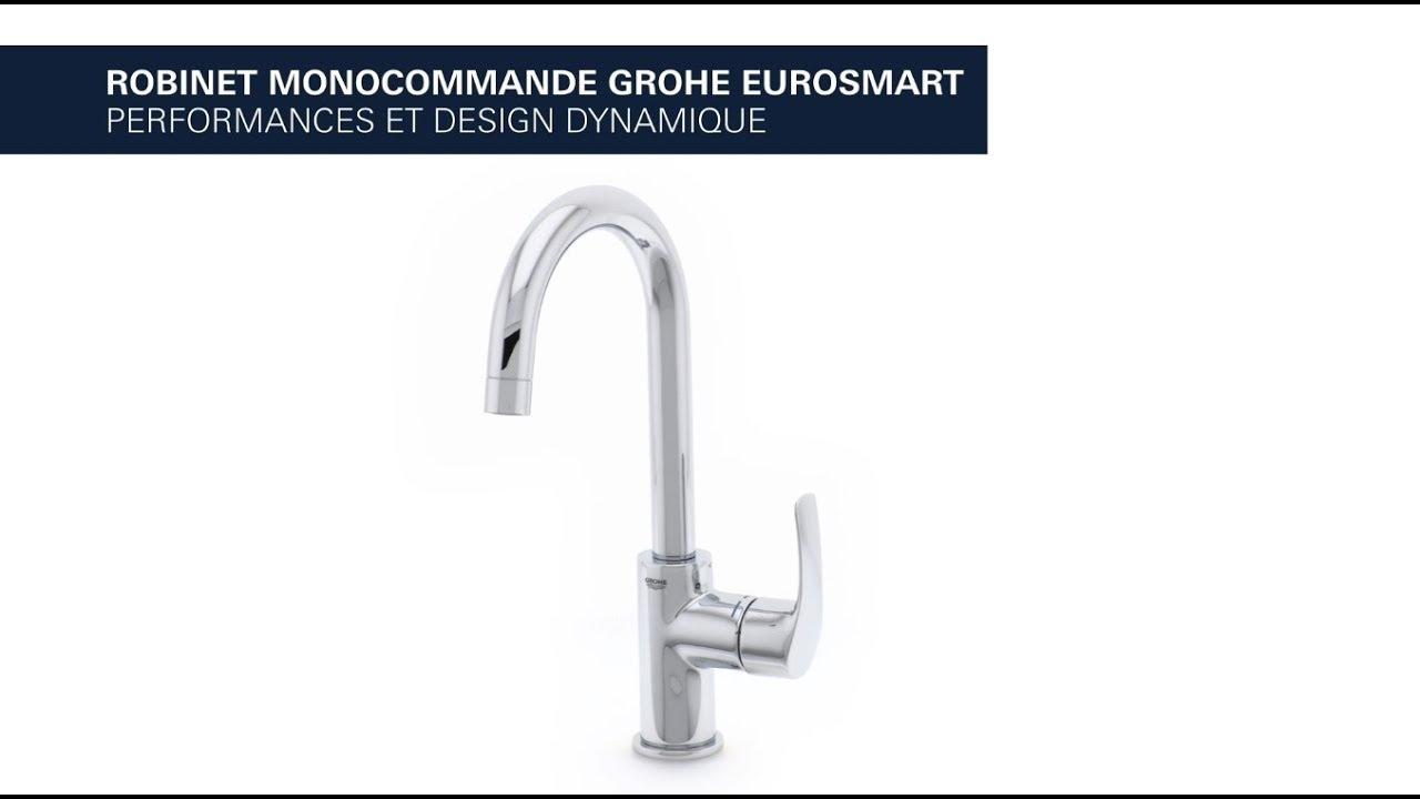 Grohe eurosmart robinet mitigeur bec haut pour lavabo - Mitigeur lavabo grohe eurosmart ...