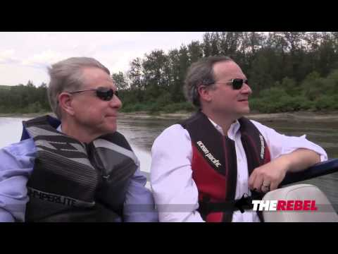Ezra Levant's tour of Fort Mac's Clearwater River