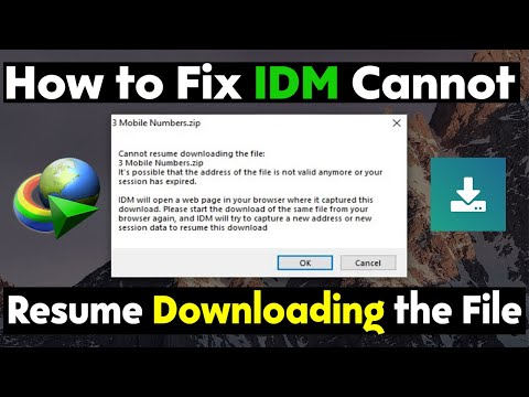 How to Fix IDM Cannot Resume Downloading the File | Tutorial 2019 thumbnail