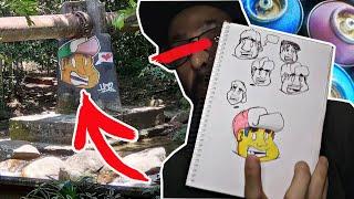 Como criar um personagem de graffiti no papel!
