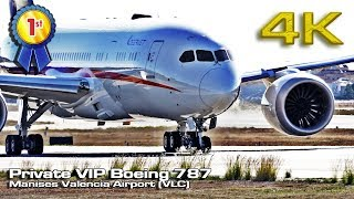 Private VIP Boeing 787 Takeoff! Valencia Airport (VLC) [4K]