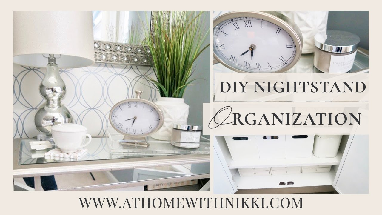 DIY NIGHTSTAND CABINET ORGANIZATION | How I Organize My Bedside Table