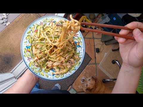 POV Peanut and Chicken Noodle Salad