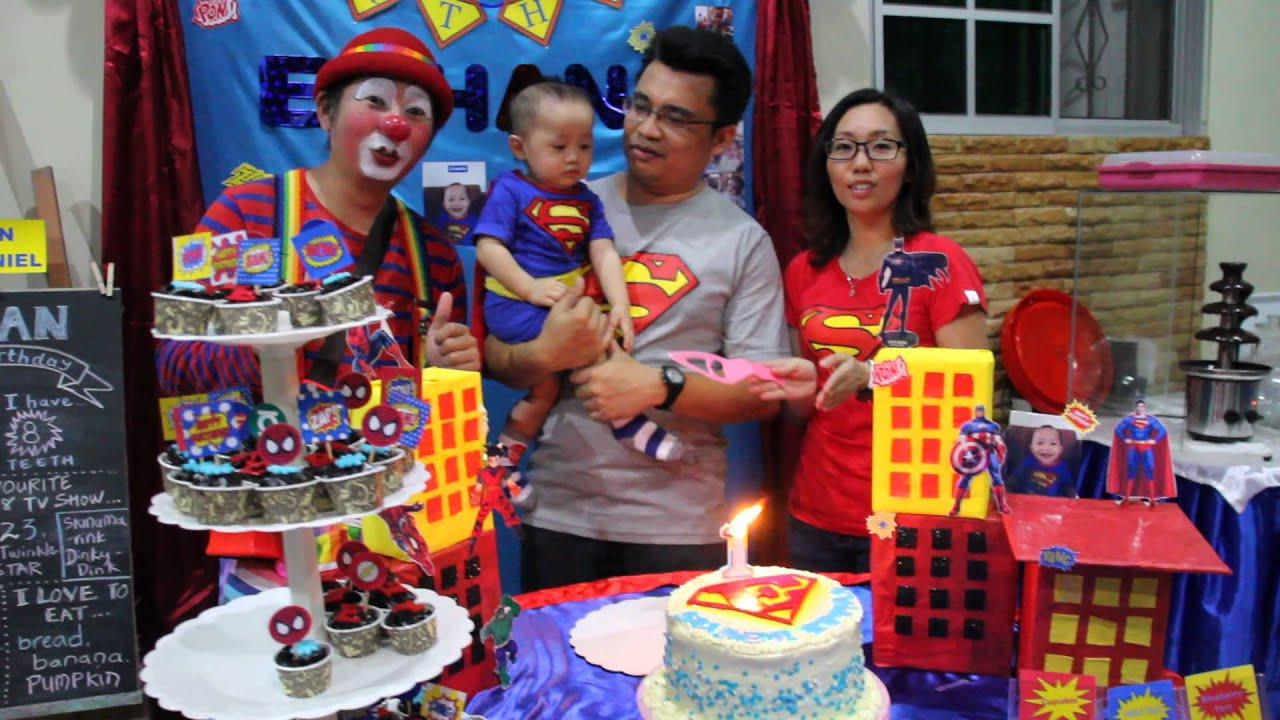 Ethan nathaniel 39 s 1 year old birthday party youtube for 1 year birthday decoration