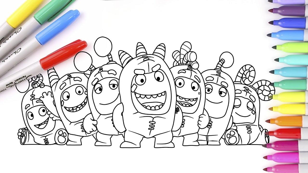 Coloring Oddbods Fuse Slick Zee