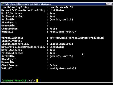 Using The NIC Teaming Cmdlets In PowerCLI 4.0 U1